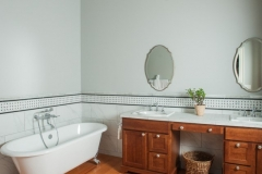 Beautiful Classic American Colonial Bathroom with Footed Bathtub in Colorado Springs, CO