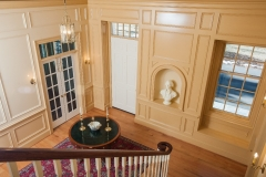 American Colonial Home Renovation Staircase to the Main Entryway