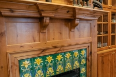 Colorado Springs Classic American Colonial Style Fireplace with Unique Detail
