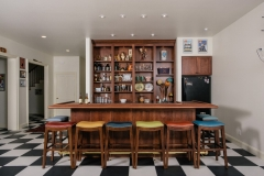 Quirky American Colonial Styled Bar Area in Residential Home in Colorado Springs