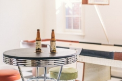 American Colonial Diner Style Basement Table & Stools in Colorado Springs Residence