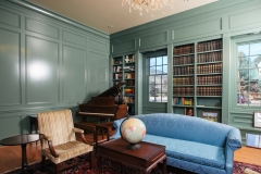 Traditional American Colonial Style Study with Bookcase, Piano, & Sofa - Colorado