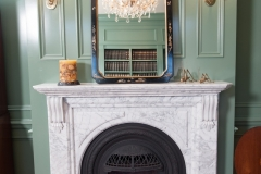 Beautiful White American Colonial Style Fireplace - Bob McGrath Construction in Colorado Springs