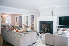 Classic Home Living Room Renovation - Updated Fireplace, Floors & Furniture