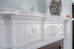 Classic Home Renovated Fireplace Mantle With Intricate Detail