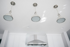 Modern Pedant Light Fixtures in Classic Home Kitchen