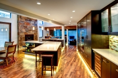 Entire Modern Kitchen Design with Bright Lights & Clean Lines