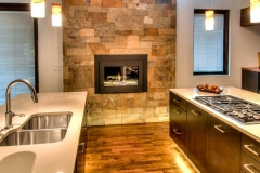 Modern Contemporary Kitchen Renovation in Colorado Springs With Fireplace