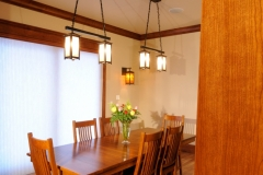 Custom Creative Light Pendants in a Craftsman Dining Room Renovation Project