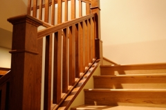 Custom Craftsman Staircase with Cherry Wood Stairs