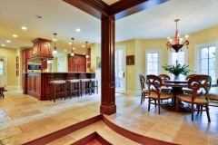 Open Elegant French Manor Kitchen & Dining