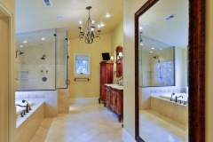Beautiful Classic Colorado Springs French Manor Master Bathroom