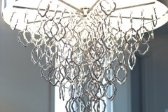 Beautiful Modern Chandelier Installed in Modern Home Design in Colorado Springs, CO