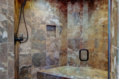 Oversize Unique & Beautiful Tile Shower in Mountain Inspired Home