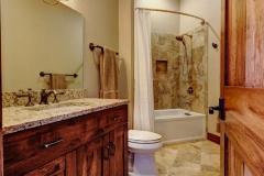 Mountain Home - Large Bathroom with Cherry Wood Vanity &Beautiful Wood Doors