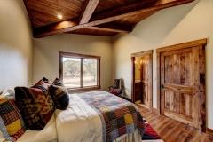 Mountain Home Bedroom - Exposed Wood Beams - Colorado Springs