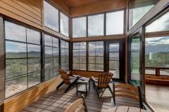 Mountain Home Patio Design - Floor to Ceiling Windows - Mountain Home Renovation