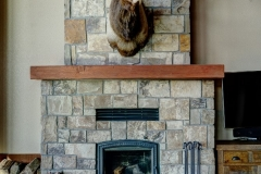 Stone Fireplace in Mountain House Design - Colorado Springs