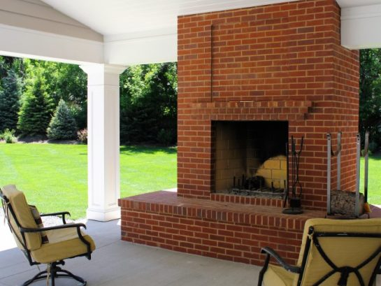 Bob McGrath Construction Covered Patio Addition and Fireplace